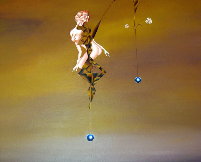 Dreams in the Dawn III-Fishing in the Sky, Victoria Yin, age 11, acrylic on canvas 61 x 63