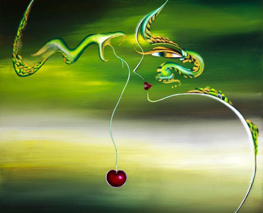 Lust II, Victoria Yin,age 12, acrylic on canvas, 24 x 30