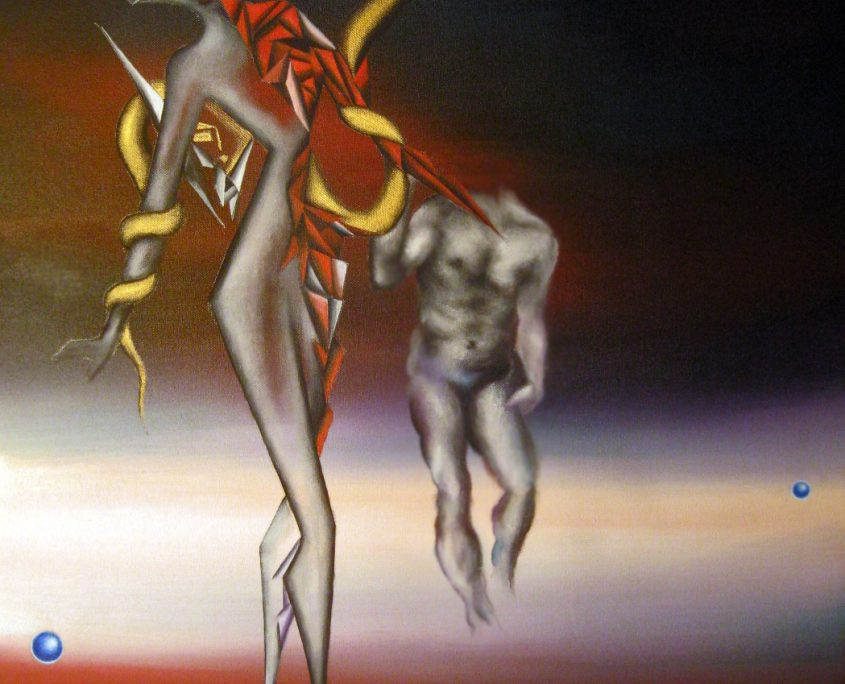 (NO SIG) Dusk of Earth II, Victoria Yin, age 12, acrylic on canvas 24 x 30