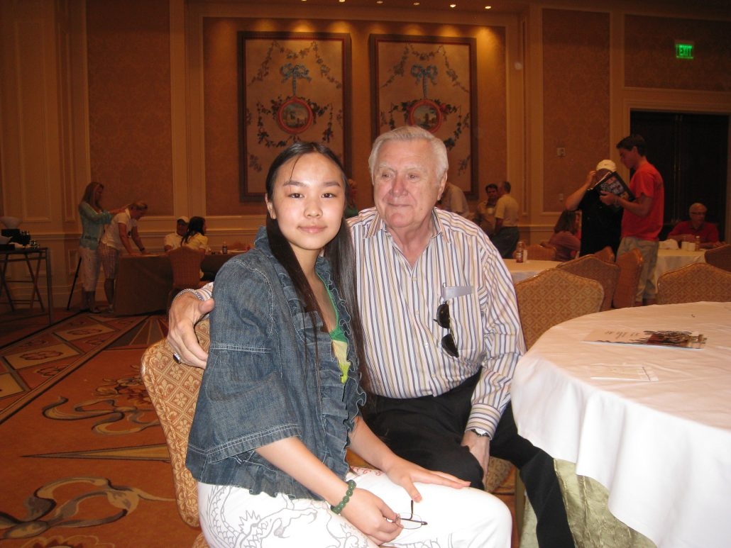 Victoria Yin with collector Dr. Lindeman, Lake Las Vegas, 2009 age 11